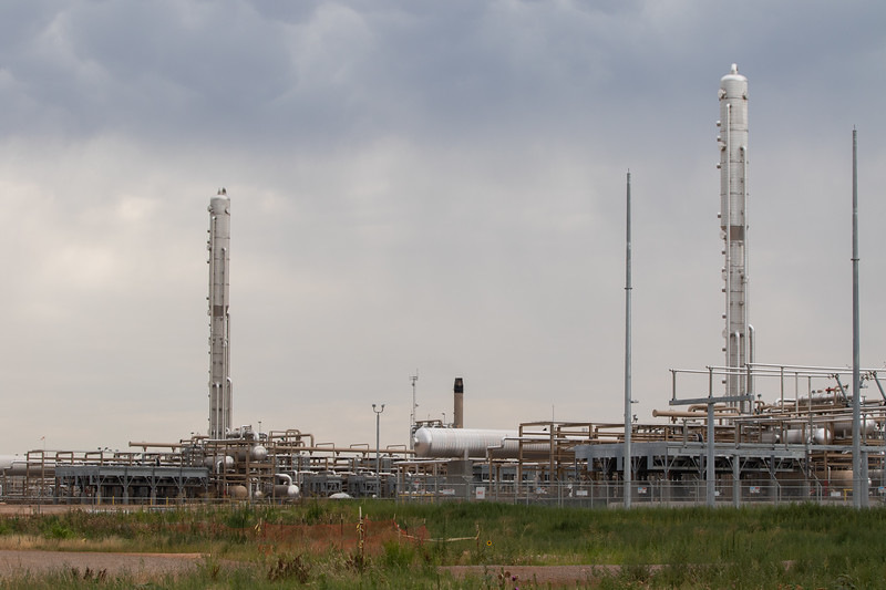 The Chisohlm natural gas plant outside of Cashion, OK operated by Oneok subcontractor Enlink.