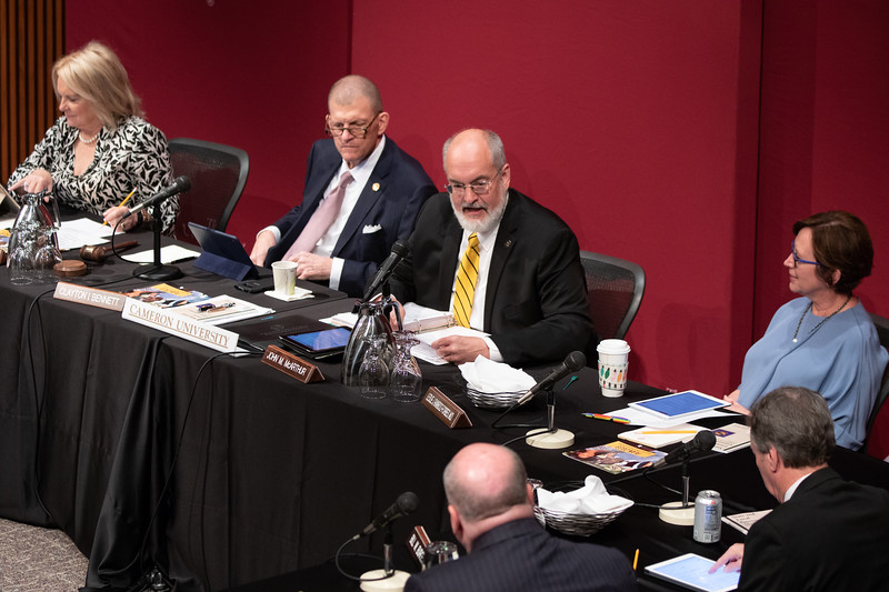 The OU Board of Regents met at OU Health Science Center Library to consider raising tuition.