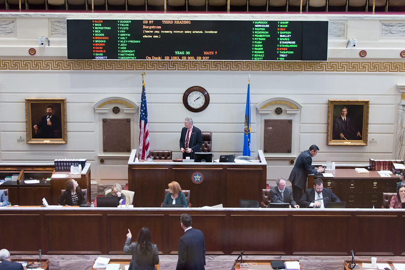 The Oklahoma State Senate passed SB97 36-7. The Senate Bill increase the minimum salary schedule for teachers accross the state.