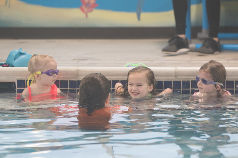 Children taking lessons at Gold Swim School located at 10 NW 164th Street in Edmond, OK.