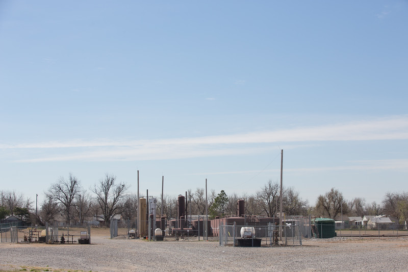 A oil facility operated by Baron Production Co, located on NW 50th Street south of Wiley Post Airport, is responsable for  contaminting adjacent property.