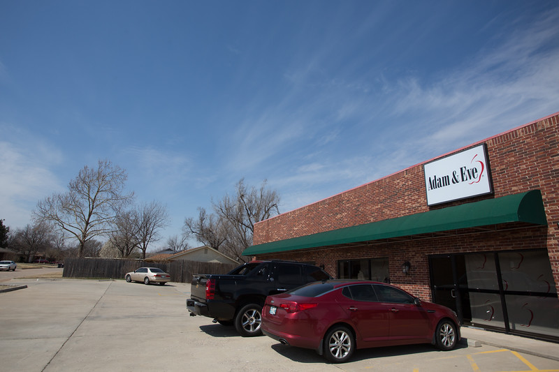 Adam and Eve, located at 2905 NW 70th Street in Oklahoma City., have challanged a city ordance that determines where adult novelty shops can build.