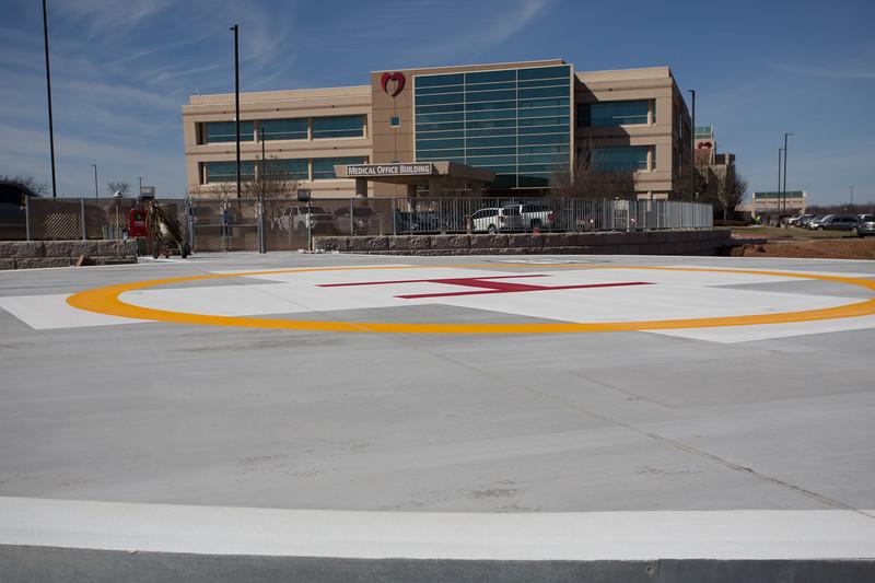 Oklahoma Heart Hospital is expanding and has added a helipad at 5200 E I-240 in Oklahoma City.