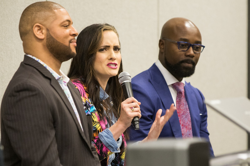 Adam Edwards, Rachel Gruntmeir and Toby Brown share their experiance of running businesses in downtown Oklahoma City at Rose State College Small Business Conferance in MidWest City, OK.