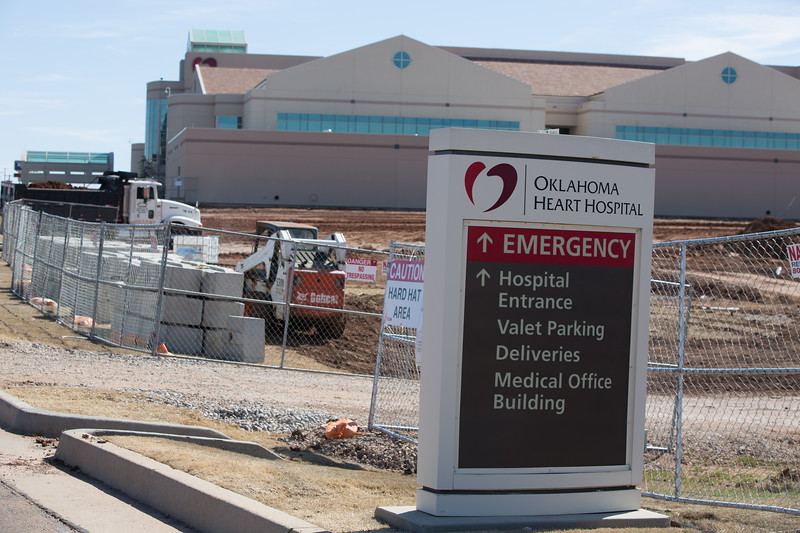 Oklahoma Heart Hospital is expanding and has added a helipad at 5200 E I-240 in Oklahoma City.