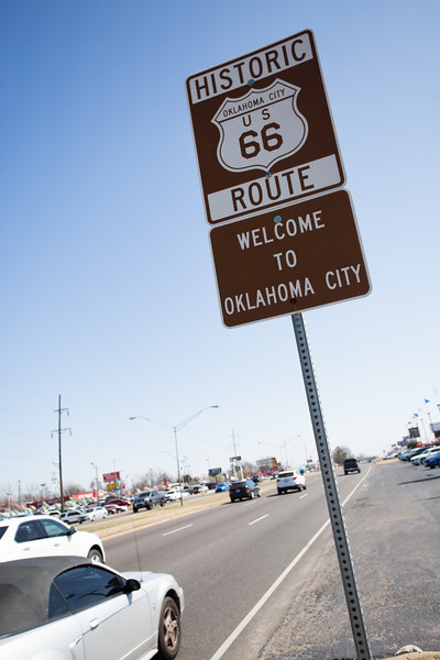 Route 66 at the border of Oklahoma City and Warr Acres, OK.