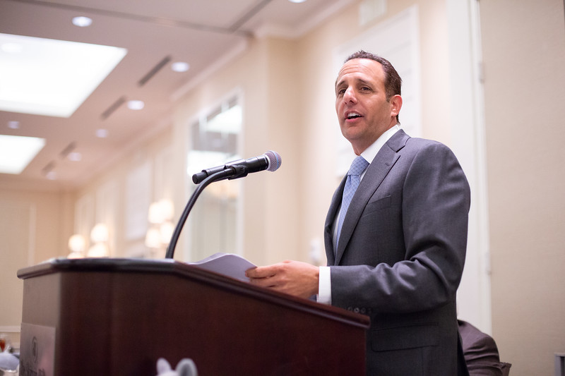 Joseph Harroz, Dean of the University of Oklahoma College of Law, was the keynot speaker for the annual Law Day luneon hosted by the Oklahoma County Bar Association at the Skirvin Hotel in Oklahoma City.