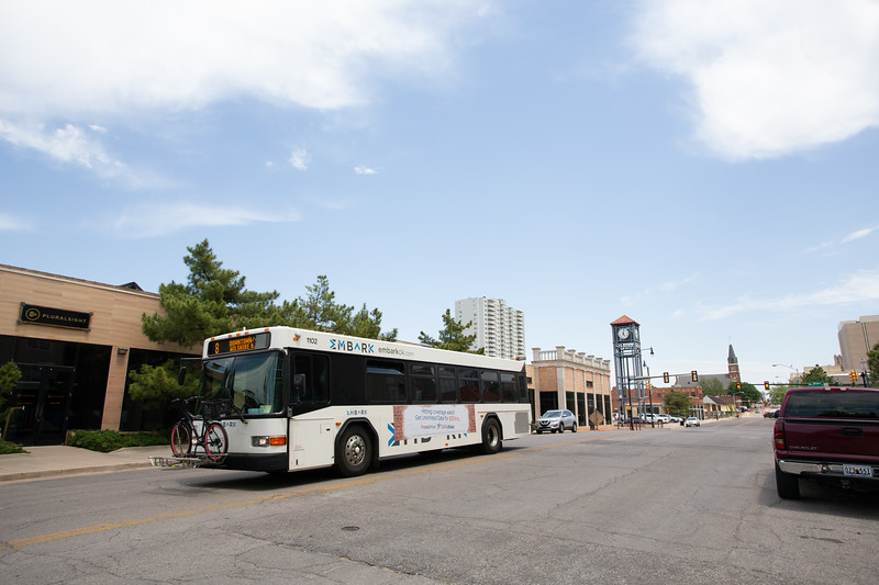 An Oklahoma City EMBARK bus in downtown Oklahoma CIty.