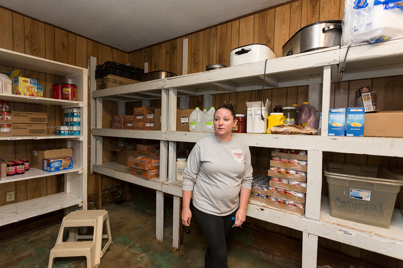 April Prentice, Program Assistant for Women's Firstep Program, gives a tour of the  existing kitchen facilities on Monday, May 14, 2018 in Oklahoma City.  (Emmy Verdin/Photographer)