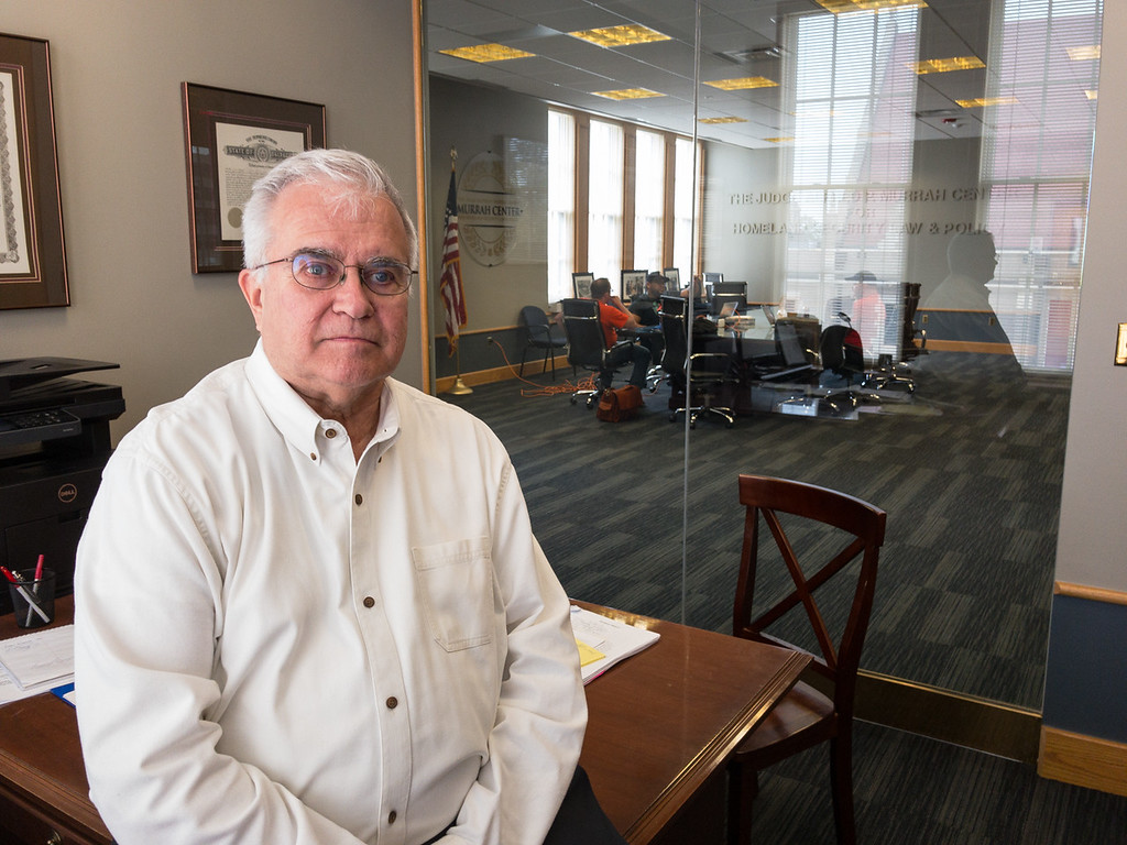 Dick Klidge work with the eviction assistance program at Oklahoma City School of Law in Oklahoma City.