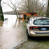 Wabash River flooding along Georgetown Road west of Logansport.