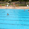 P-T photos | Steve Summers<br /> OPENING DAY: Despite the cool water temperature, 69 degrees, the Tower Park pool opened for the season Thursday to a small but brave crowd.