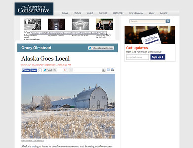 The American Conservative Website - 9/4/14 Article
