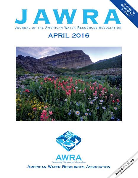 April 2016 Cover - Journal of the American Water Resources Association