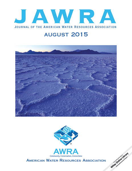 Journal of the American Water Resources Association (JAWRA) - August 2015. Image of Bonneville Salt Flats - Utah