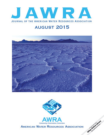 Journal of the American Water Resources Association (JAWRA) - August 2015. Image of Bonneville Salt Flats - Utah