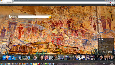 2015 Bing Search Engine Background - Sego Canyon Pictographs, Utah