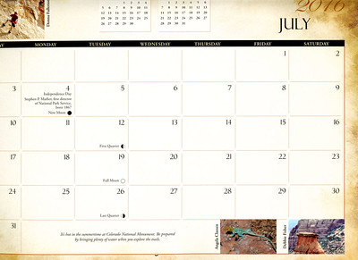 Grid photo, July 2016, Colorado National Monument Association calendar