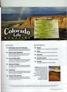 Monument Rainbow, published in Colorado Life Magazine, March/April issue 2015