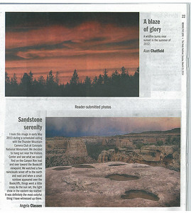 "Published in The Daily Sentinel, March 23, 2014 as part of the ""Behind the Lens"" issue"