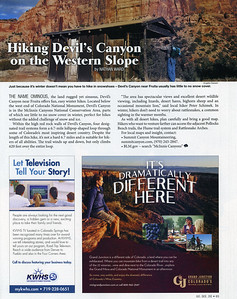 Devil's Canyon photo, published in Colorado Life Magazine,  January/February 2016