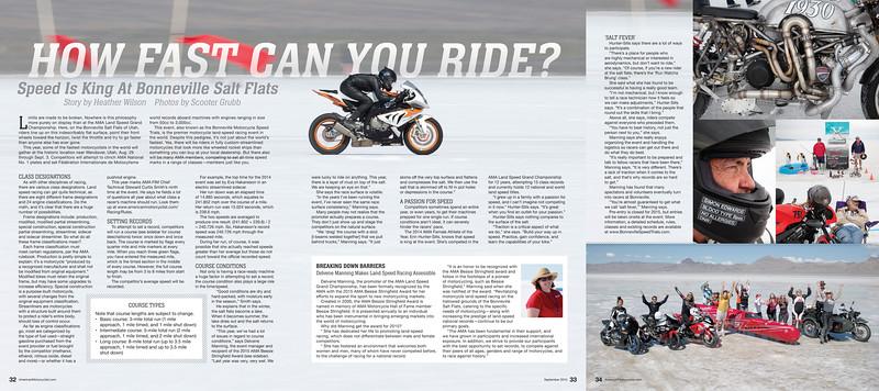 AMA Magazine: Bonneville Land Speed Trials feature