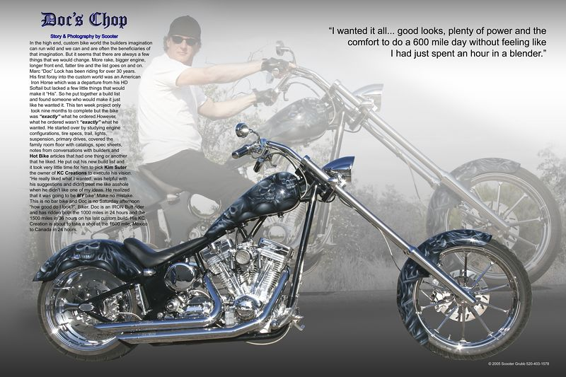 """""""Doc's Chop"""" Story, photos, layout and artwork by Scooter"""