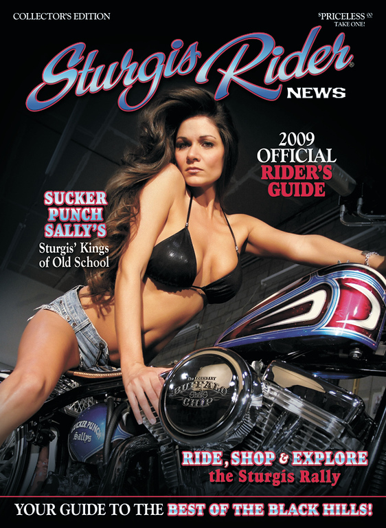 2009 Sturgis Rider Cover<br /> Bike Sucker Punch Sally<br /> Model Amy Barraco