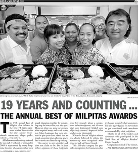 Lead Photo in the Milpitas Post Top 100 Issue - Bento Express