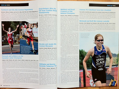 These 3 photos of the National Triathlon Championships appear in the November issue of Triathlon Magazine Canada. See the original photos.