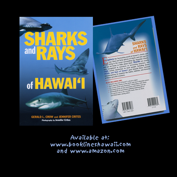 Mutual Publishing (2002). 203 pages, more than 400 photos. Fascinating facts about the sharks and rays that live, not just in Hawaii's tropical waters, but in oceans around the world. Hawaii Publishers Assn. Po'okela award winner.