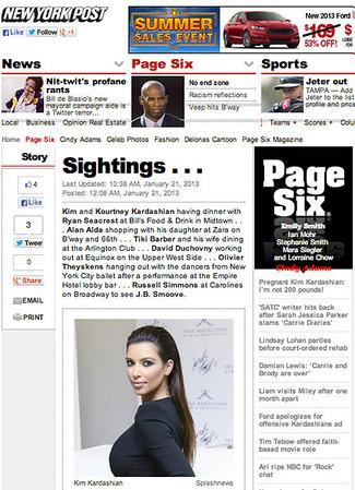 New York Post - Kim Kardashian
