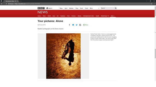 BBC.com - Your pictures : Alone - June 18, 2015