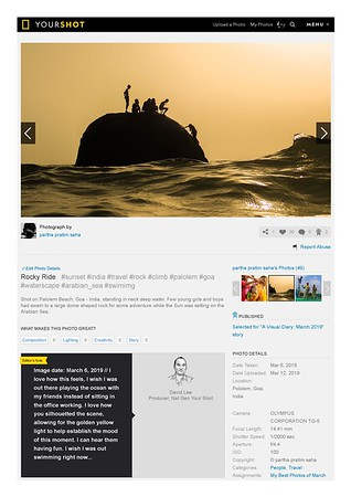 """National Geographic, Selected for """"A Visual Diary: March 2019"""""""