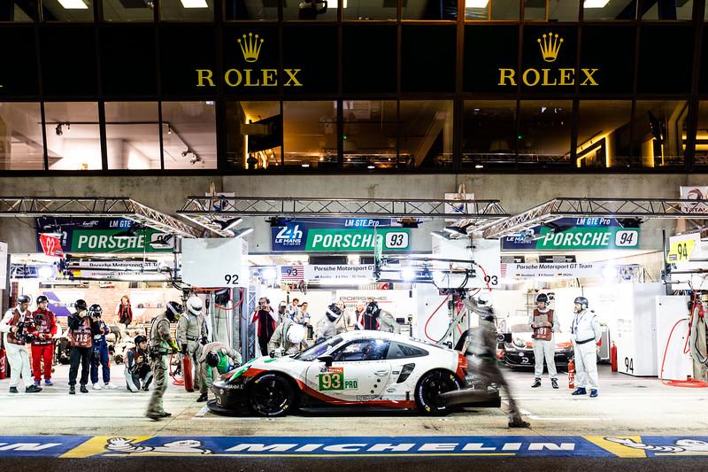 #93 PORSCHE GT TEAM / USA / Porsche 911 RSR -  24 hours of Le Mans  - Circuit de la Sarthe - Le Mans - France -