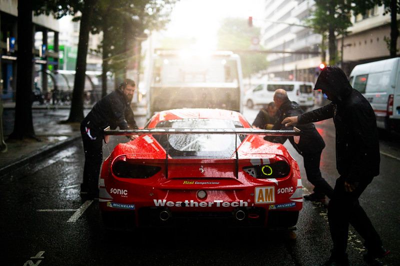 #85 Keating motorsport / Ferrari 488 GTE / Scrutineering - 24 hours of Le Mans  - Circuit de la Sarthe - Le Mans - France