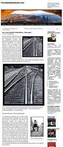 Dans cet article par Louis Lavoie pour son blogue Faire de la belle photo, il parle des risques pour les photographes qui s'aventuremt auprès des voies ferrées. Il met en vedette une photo de lui par Denise Sarazin. Pour lire l'article en entier: http://fairedelabellephoto.com/2012/09/24/les-voies-ferrees-irresistibles-mais-gare/  In this article in Faire de la belle photo, photographer Louis Lavoie discusses the risks of taking photographs by and on railway tracks. The article features a photo of him on a train track taken by Denise Sarazin. View the original photo here: http://milagrophotography.smugmug.com/Portraits/On-location/i-3dm8WRF/0/XL/DSC_4719%20redone%202013%20new%20WM-XL.jpg