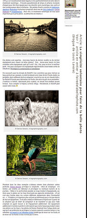 Article 'La simplicité volontaire pour faire de la belle photo', paru dans le blogue de Louis Lavoie Photo (fairedelabellephoto.com). Pour lire l'article en entier: http://fairedelabellephoto.com/2012/11/26/la-simplicite-volontaire-pour-faire-de-la-belle-photo/ This article by Louis Lavoie Photo appeared in his blog Faire de la belle photo. The topic is how to use simple tools to capture wonderful photos and features photos by Denis Sarazin, from Paris, a barley field close to Ottawa, and some yoga photos taken for a fundraising project, Yoga for Multiple Sclerosis 2013 Calendar. For more photos and to read the entire article, click on the link above.  View the images here: Paris: http://milagrophotography.smugmug.com/Other/Urban/i-Km5KmqR/0/L/IMG_5408%20SmugMug-L.jpg Barley field: http://milagrophotography.smugmug.com/Portraits/On-location/i-BCbLwp6/0/XL/DSC_9262%20final%20WM-XL.jpg Yoga: http://milagrophotography.smugmug.com/Portraits/Yoga/i-fmThdBz/0/XL/DSC_9152%20WM-XL.jpg