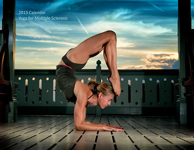 Front cover of the Yoga for Multiple Sclerosis 2013 Calendar, featuring Lucy Castell at the gazebo on Parliament Hill in Ottawa. CBC TV came to the shoot and aired a special news item about the calendar that evening. View all calendar photos, along with additional yoga photos, at http://milagrophotography.smugmug.com/photos/swfpopup.mg?AlbumID=26255400&AlbumKey=6hZwWV