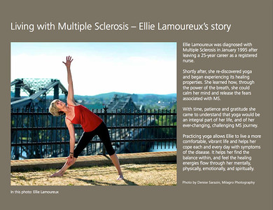 Inside front cover of the Yoga for Multiple Sclerosis 2013 Calendar. CView all calendar photos, along with additional yoga photos, at http://milagrophotography.smugmug.com/photos/swfpopup.mg?AlbumID=26255400&AlbumKey=6hZwWV