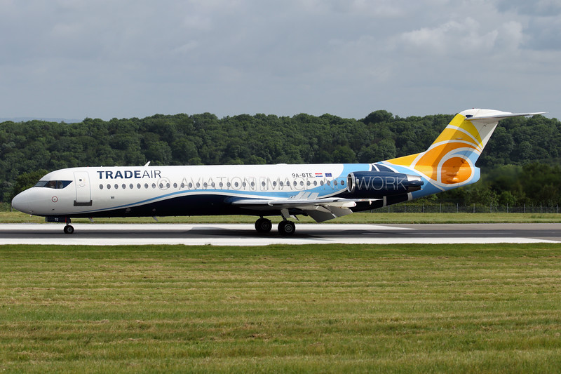 9A-BTE | Fokker 100 | Trade Air