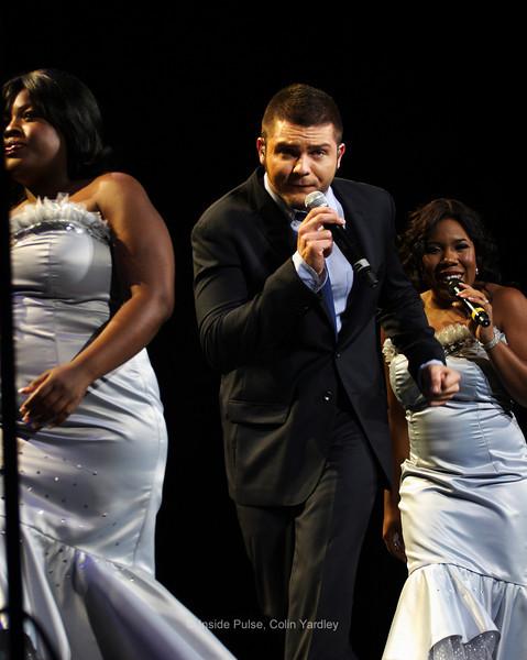 Left-to-right: Lakisha Jones, Chris Richardson, Melinda Doolittle