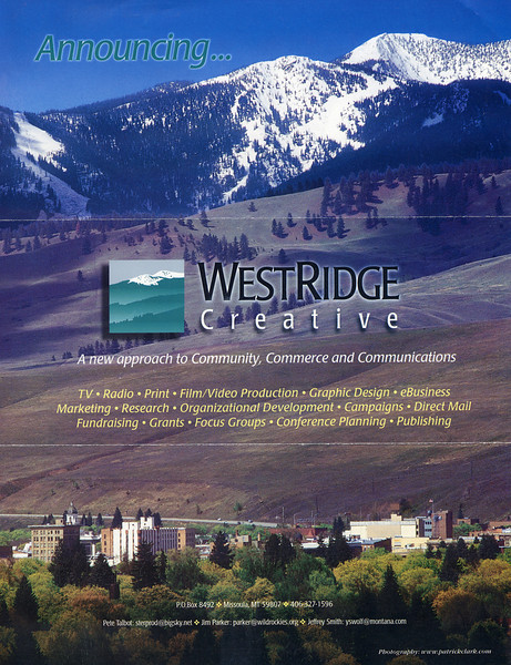 Westridge Creative Agency Brochure