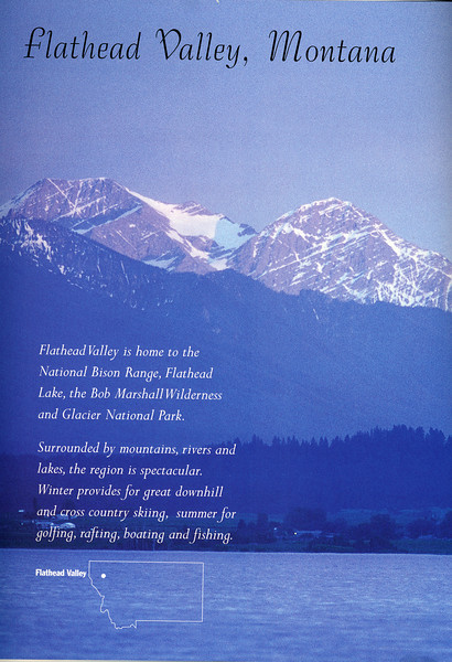 Flathead Valley ad, Montana Journal Magazine