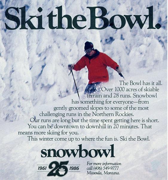 Snowbowl Ski Area Ad