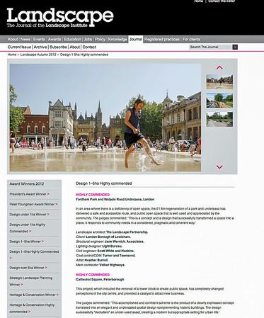 Landscape The Journal of the Landscape Institute:  Cathedral Square, LDA Design