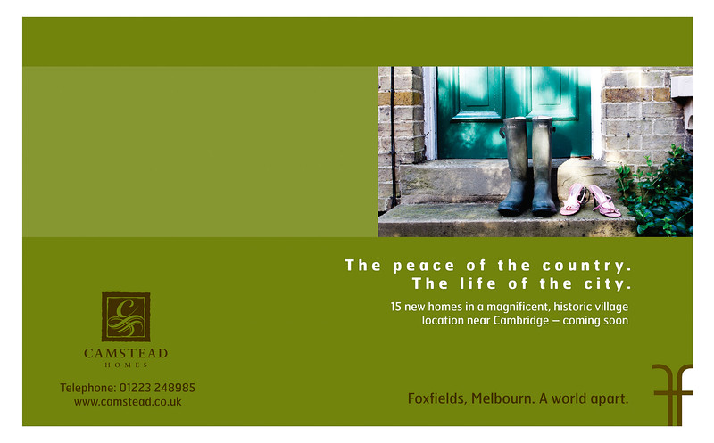 Print Advert:  Camstead Homes