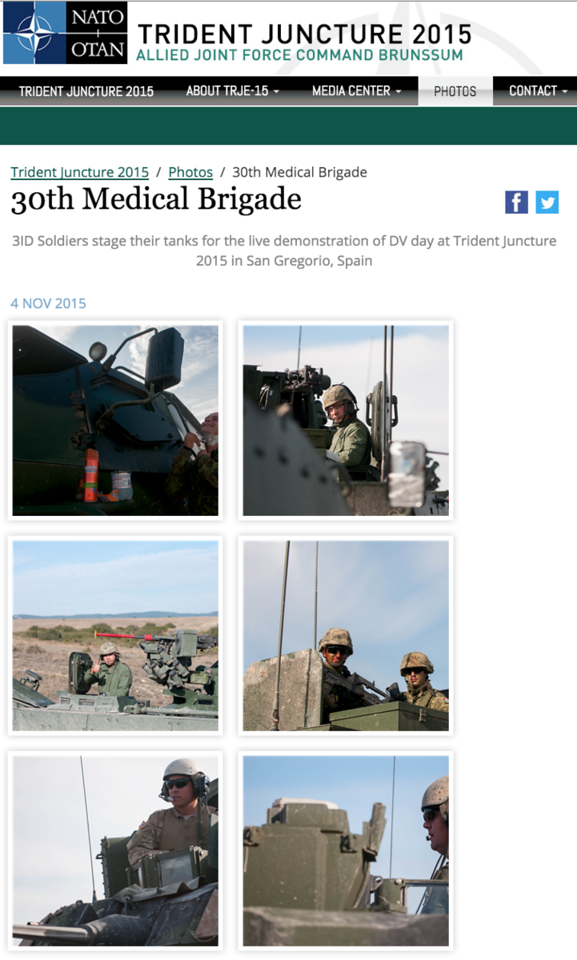 "<a href=""https://jfcbs.nato.int/trident-juncture/media/photos/30th-medical-brigade"">https://jfcbs.nato.int/trident-juncture/media/photos/30th-medical-brigade</a>"