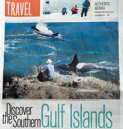 Photo on the Front of the Travel Section