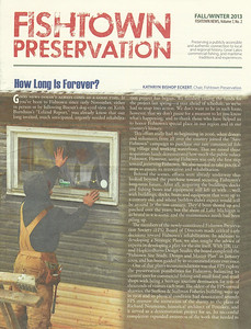 Fall/Winter 2013 Fishtown Preservation Newsletter Front Cover
